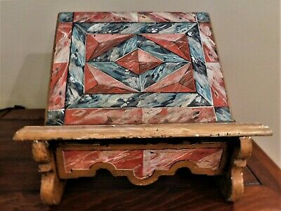 Arts and Crafts Hand Crafted , Hand Painted Standing Table Book Shelf