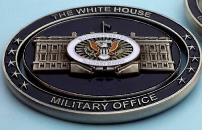 challenge coin WHITE HOUSE DONALD TRUMP military ARMY NAVY AIR-FORCE spin