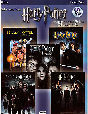 Harry Potter Sheet Music & CD Flute Hedwig's Theme, Hogwarts' March, Fireworks