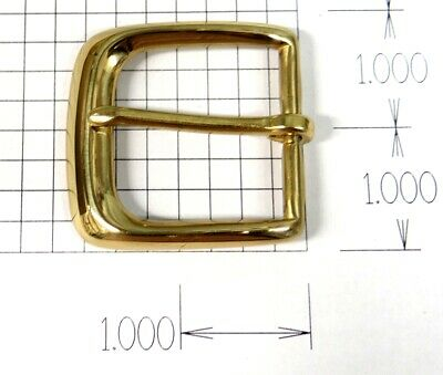 "Solid Brass Belt Buckle Square - New - Fits 1.375"" Wide Belt"