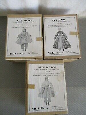 Amy, Beth & Meg March Porcelain Doll Kits By Yield House