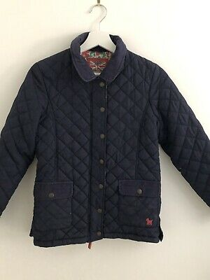 Mini Boden Blue Navy Quilet Jacket Coat Size/Years 11-12
