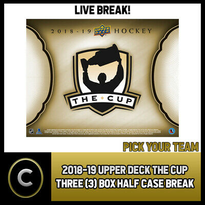 2018-19 Upper Deck The Cup 3 Box (Half Case) Break #H562 - Pick Your Team -