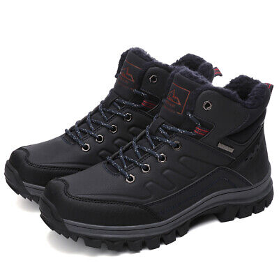 Men's Hiking Shoes Snow Boots Casual Waterproof Ankle Shoes Winter Warm Walking