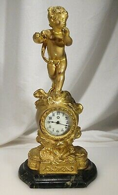 Antique French Ormolu Putto Putti Mantle Clock - 57922