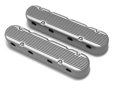 Holley 241-180 2-Pc LS Finned Valve Covers - Natural Finish