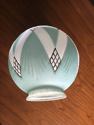 Unique Art Deco Frosted Glass Light Shade Pendant Diana Lamp