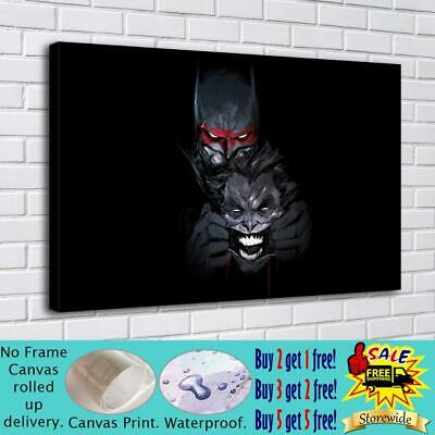 "16""x28""Batman HD Canvas prints Painting Home decor Picture room Wall art Poster"