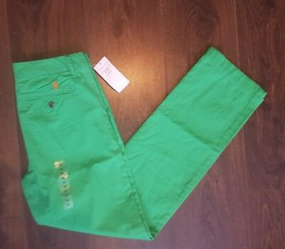 Ralph Lauren Jeans Green Size age 16 yrs Girls Pony Trousers bnwt new