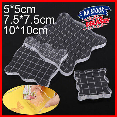 Clear Block Scrapbooking Stamp Essential Tools Transparent Pad Scale Acrylic