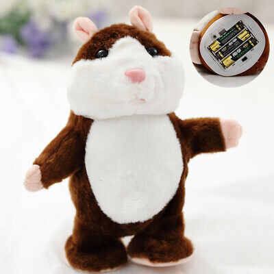 Talking Hamster EA Plush Toy Pet Xmas Gift Record Cute Nod Mouse Chat Mimicry