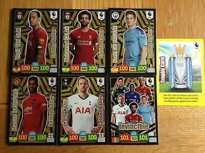 Panini Adrenalyn XL 2019/20 Various Goldenballers/Invicible/Trophy cards