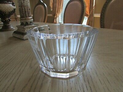 "Vtg Orrefors Crystal 1/2"" Thick And Heavy Candy Bowl Bevel Rim W/Tag & Signed"
