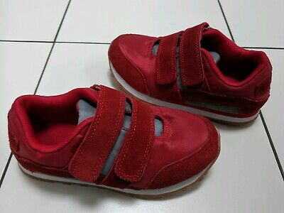 Unisex Boys Girls Red Autumn Trainers Marks And Spencer M&S  Uk 12 Suede Shoes