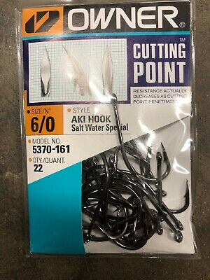 Owner Aki Hook Salt Water Special with Cutting Point 5170 5370