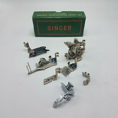 Lot of 7 Singer 122 Sewing Machine Attachments w Box 120598 36865 35831 160359