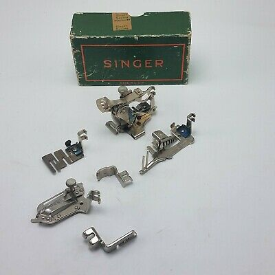 Lot of 6 Singer Sewing Machine Attachments w Box 120598 36865 35931 160359