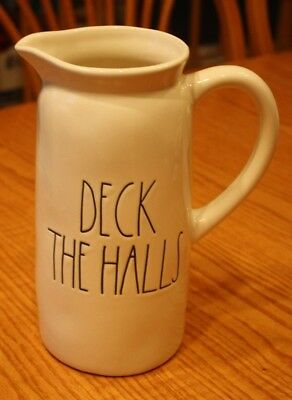 Rae Dunn Magenta Ll Deck The Halls Pitcher Tea Drink Christmas Thanksgiving