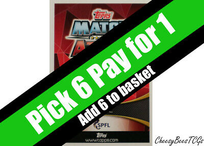 Match Attax - 2019/20 SPFL - Base Cards x 1 (#145 - 306)