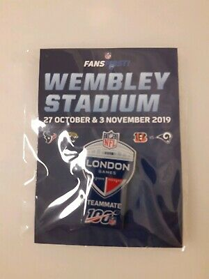 Nfl London Games Lapel Pin Cincinnati Bengals Vs. Los Angeles L.a. Rams Wembley