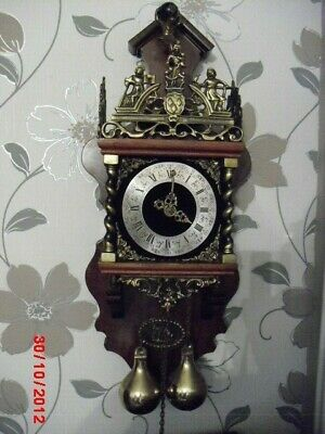 option of ONE of 3 vintage  dutch    twin weight wall clock (3 available)