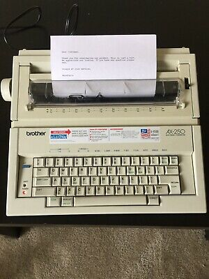 BROTHER Portable Electric Typewriter Correcting AX-250 Daisy Wheel Manual USA