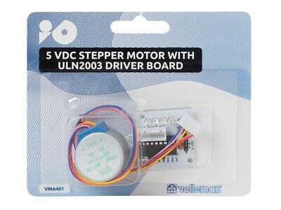 Velleman VMA401 5v Dc Stepper Motor And Uln2003 Driver Module For Arduino