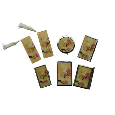 Lovebird Mirror Compact & Accessories 6 Piece Set  **All Brand New**
