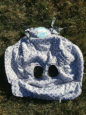 Carter's Grey And White Shopping Cart/ High Chair Cover