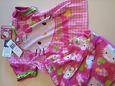 HELLO KITTY NEW Pajama Set TODDLER GIRLS 3T 100% polyester New with Tags