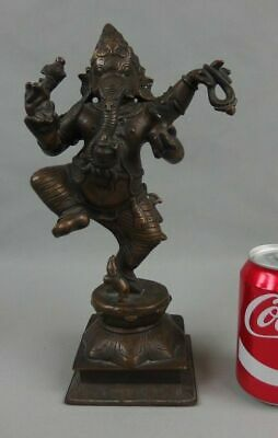 Antique India Asian Chinese Bronze Ganesh Statue Sculpture Early 20th C.