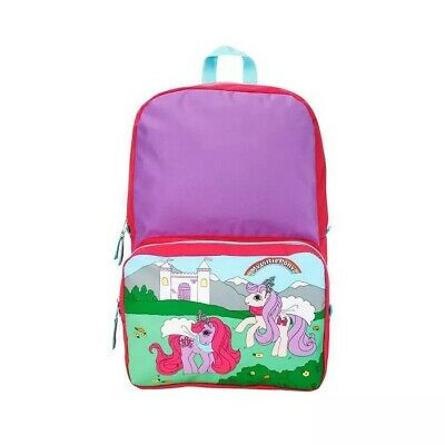 """Stranger Things 16"""" My Little Pony Backpack - Purple/Green starcourt mall map"""