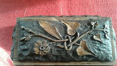 Antique Victorian Blackforest Box  carved foliage Fabulous Condition