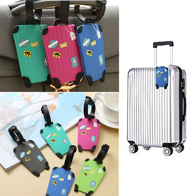 Silicone Luggage Tags Suitcase Tag Label Name Address ID Bag Baggage Travel AU