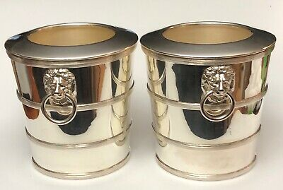Pair of ART DECO~ SILVER Plated ~ ICE BUCKETS