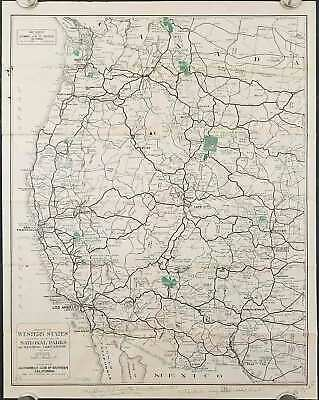 VINTAGE ROAD MAP of Western United States, Enco, 1969 ...