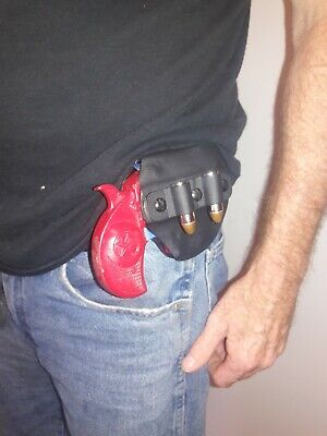Bond Arms Texas Defender and Rowdy Kydex Driving Holster W Extra Ammo Attachment