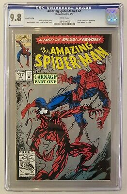 Amazing Spider-Man #361 CGC 9.8 1st full appearance of Carnage!! (2nd print)