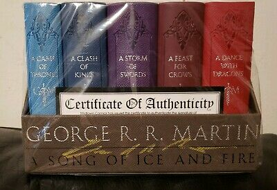 George R. R. Martin's Signed Autograph Game of Thrones Leather-Cloth Boxed Set