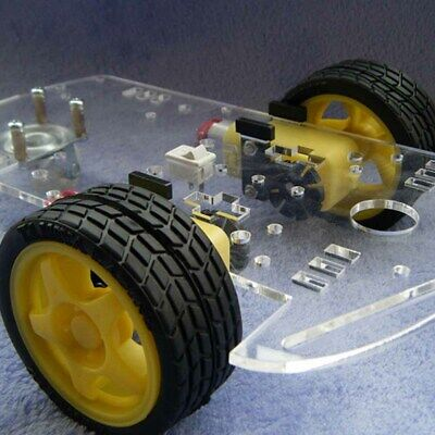 New DIY 2-Wheel Smart Robot Car Chassis Kit for Arduino Black + Yellow