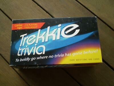 collectable trekkie trivia game, 2400 questions 2 to 6 players teen to adult