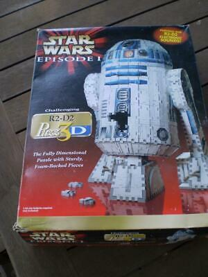 Vintage collectable Star Wars R2 D2  3D puzz episode 1 by Hasbro beeps & whistle