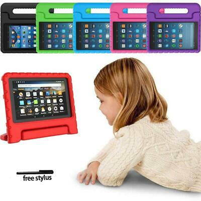 """For Amazon Fire 7"""" HD 8"""" Tablet -ShockProof EVA Handle Kids Stand Cover Case"""