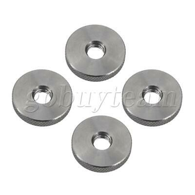 304 Stainless Steel M8 Thread Knurled Nuts Thumb Nuts 24.7x5mm Pack of 4