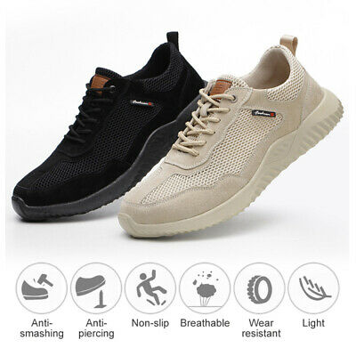UK Safety Shoes Work Shoes for Men Women Steel Toe Trainers Lightweight Sports