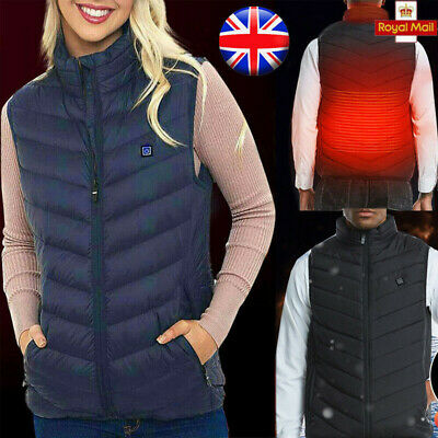 NEW Electric Vest Heated Cloth Jacket USB Warm Up Heating Pad Body Winter Warmer