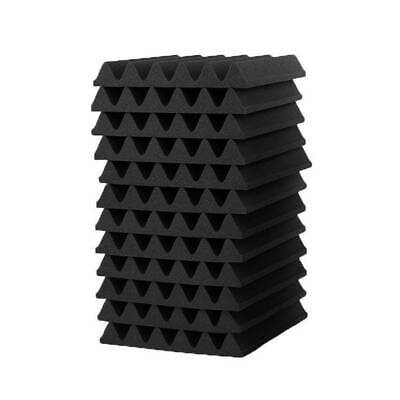 12Pcs Acoustic Wall Panels Sound Proofing Foam Pads Studio Treatments Tool