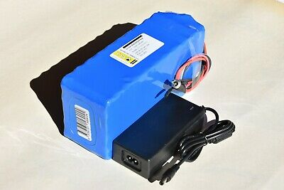 Pacco Batteria + Charger 2A, litio 36V 13Ah 481Wh 10S5P con BSM 35A. ebike