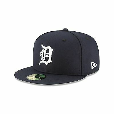 Mens New Era MLB Authentic On-Field 59Fifty Fitted Cap Detroit Tigers 2018 Home