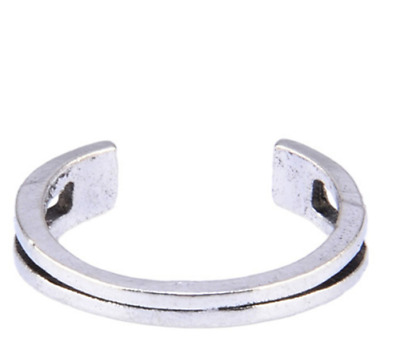 Womens Toe Rings Small Finger Ring Band Silver Plated Adjustable Jewellery 1#